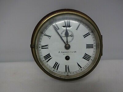 "Vintage 1930's Ww2 ""rms, Lady Of Man (Mann)"" Brass Marine, Ships Bulkhead Clock."