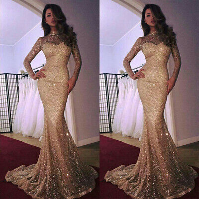 8849f513 Women Sequins Formal Bodycon Prom Wedding Cocktail Party Mermaid Long Maxi  Dress