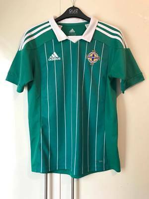 Northern Ireland Football Home Team Shirt 2012/2013 Green and White Size 13-14Y