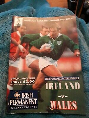 1996-Ireland V Wales-Five Nations-International Rugby Programme-Vgc