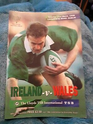 1998-Ireland V Wales-Five Nations-International Rugby Programme-Vgc