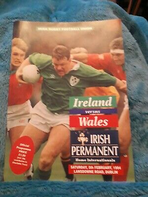 1994-Ireland V Wales-Five Nations Champions-International Rugby Programme-Vgc