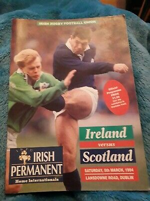 1994-Ireland V Scotland-Five Nations-International Rugby Union Programme