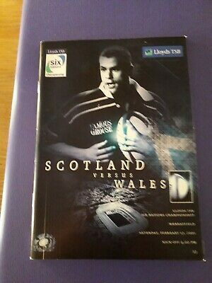 2001-Scotland V Wales-Six-6 Nations-International Rugby Union Programme