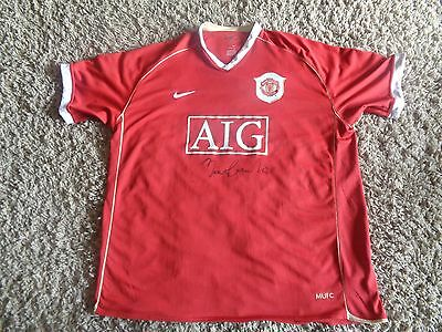 Sir BOBBY CHARLTON Manchester United SIGNED shirt / Man Utd / MUFC