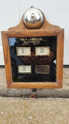 Antique Hotel Annunciator Butler Call Bell Servants Call Box lahee montreal