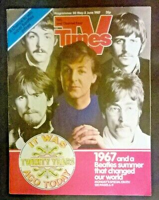 THE BEATLES TV TIMES 1987 20 Years Special with Sgt. Pepper Anniversary poster