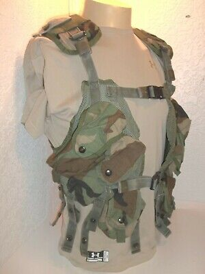 Woodland Camo US Military LBV TACTICAL LOAD BEARING VEST, Real US Army Surplus