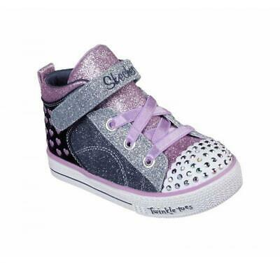 bd5a5c275c9b5 Skechers Kids Twinkle Toes Shuffle Lite Blue+Purple Light-Up Sneakers 20085N
