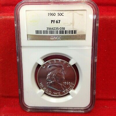 1960 50c NGC PR 67 Proof Franklin Half Dollar