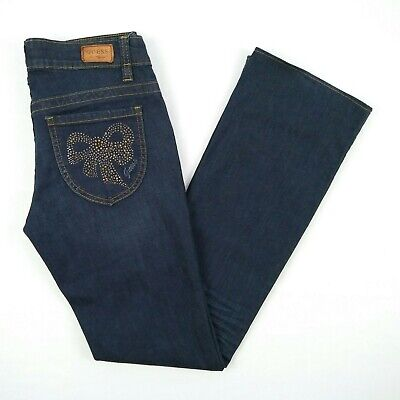 WOMENS GUESS BEVERLY Skinny Fit Black Dark Wash Stretch