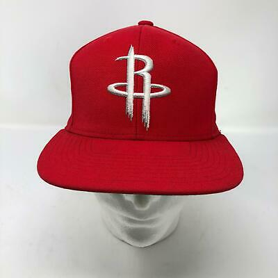 half off 25ca6 0df6f Mitchell   Ness Houston Rockets Logo Snapback Red Hat Basketball NBA Cap