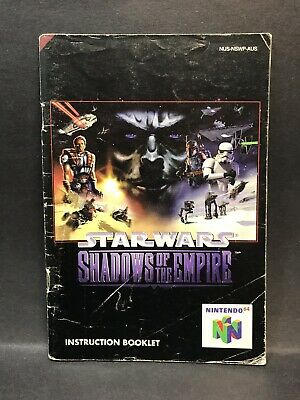 Star Wars Shadows of the Empire - Nintendo 64 Instruction Booklet - N64 Manual