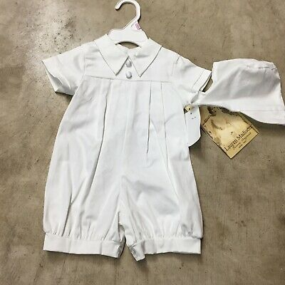 eab25decfef lauren madison newborn infant christening outfit 2 piece set white hat 9