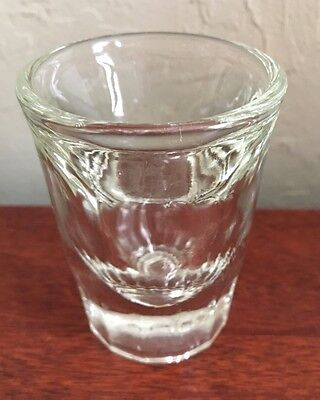 VTG Shot Glasses Tall Thick Bottom Clear Whiskey Glass Heavy Bar Pub Set of 4