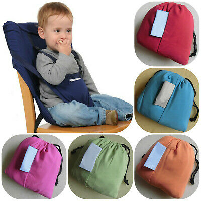 Portable Travel Baby Kid Toddler Feeding High Chair Seat Cover Sack Harness Belt