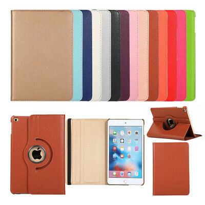 For iPad Mini 4 Mini 5 2019 PU Leather 360 Rotate Tablet Smart Case Cover Stand