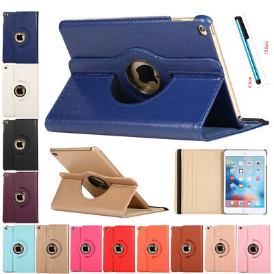 Shockproof Case Rotating PU Leather Stand Cover For iPad Mini 4 5th Generation