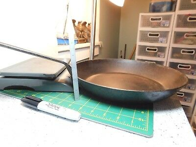 "Vtg. Antique?? 12""x 2"" Heavy Steel Long 10 1/4"" Handle Camp Fire Fry Skillet"