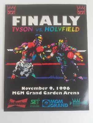 07902dc7 1996 Tyson vs Holyfield Onsite World Heavyweight Title Boxing Program  11/9/96