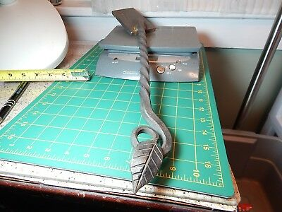 "Twisted 1/2"" Hand Forged Hammered Wrought Iron w/Leaf -Gate Latch??Craft Project"