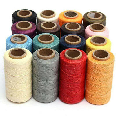 Crafts Thread Sewing Leather Stitching Waxed Cord 1 Roll Coloured 260M 1mm 150D