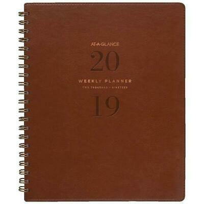At-a-Glance 2019 Signature Collection Diary Weekly Planner A5 - Brown