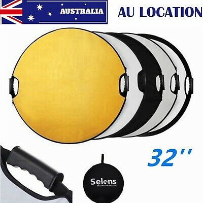 "Selens 32""/80CM 5 in 1 Collapsible Round Multi Disc Light Reflector for Studio"