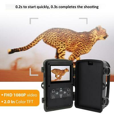 16Mp 1080P Hd Fototrappola Scouting Hunting Camera Telecamera Led Infrarossi Pir
