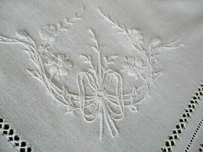 "Antique Tablecloth-Hand Crochet+Hand Embroidery-36""Sq."