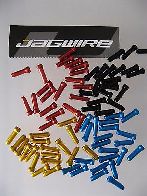 JAGWIRE - ALLOY END CRIMPS for Cycle Gear/Brake Cables ~ Colour/Quantity Options