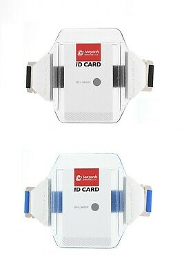 Security Doorman Arm Band ID SIA Badge Clear Plastic Holder Vertical Card UK