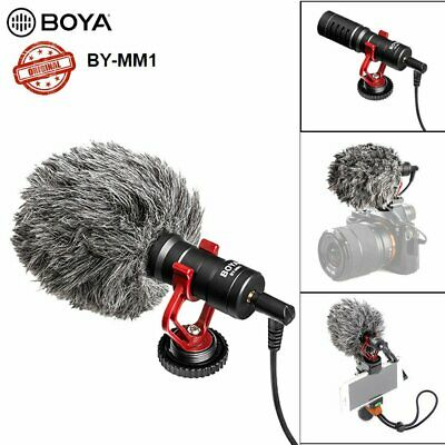 BOYA BY-MM1 3.5mm Microphone Condensor Video Mic For iPhone Samsung Cell Phone