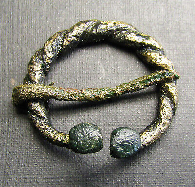 Ancient Bronze Viking Fibula. Сleared.( H7.1)