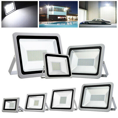 10W-500W LED Floodlight Outside Wall Light Security Flood Lights Cool White IP66