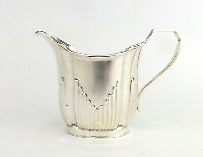 Jug Solid Sterling Silver Art Deco John Round Sheffield 1889