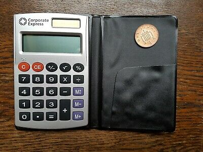 Pocket Calculator Corporate Express Solar Power for Battery