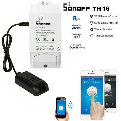 Interuttore Sonoff Th16 Wifi Switch Temperatura E Umidita' Domotica  Android Ios