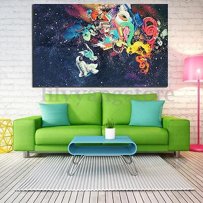 Psychedelic Trippy Art Silk Fabric Poster Modern space Wall Decor 24x36