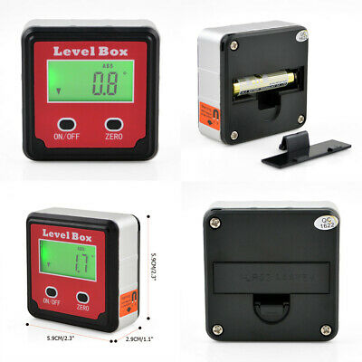 Digital Level Box Protractor Angle Finder Bevel Gauge Meter Magnetic Base