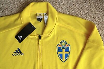 "M 41-43"" Official ADIDAS SWEDEN Track Jacket Soccer Football TAGS Sverige SVF"