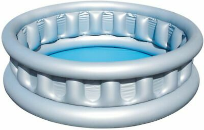 New Bestway Round Family Swimming Paddling Pool Outdoor Water Grey 1.52M X 43Cm