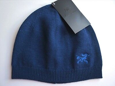 ARCTERYX of Canada Navy 95% WOOL Beanie Toque Hat Skull UNISEX Tags
