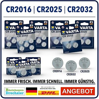 VARTA  Knopfzellen High-Tech Lithium  CR2032 l CR2016 l CR2025 l Bulk l Blister