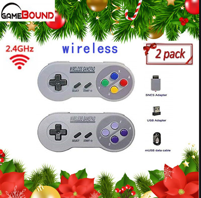 Wireless Gamepad Controller for SNES Classic PC, RetroPie color US Free Shipping
