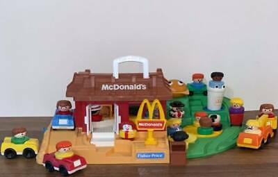 VINTAGE FISHER PRICE CHUNKY LITTLE PEOPLE McDONALD'S #2552, CUSTOM LOT + EXTRA's