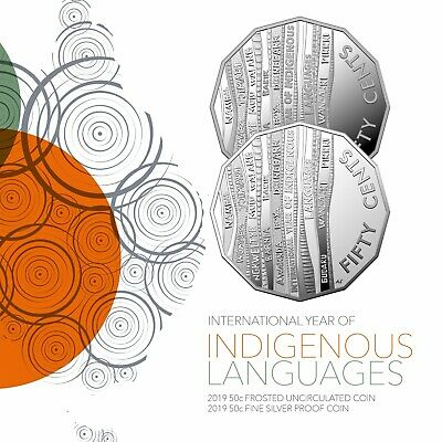 2019 International Year of Indigenous Languages 50 Cent Coin