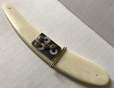 Real Bone Straight Razor Scales Drilled W Hardware 5/8-1 Handles Dovo Puma Boker