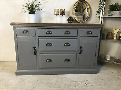 Beautiful Old Pine Dresser/ Vintage Sideboard/ Wooden Cupboard/ Storage Chest