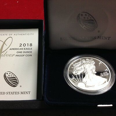 2018-W American Eagle SILVER PROOF (OGP & Papers) WEST POINT
